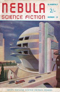 Nebula Science Fiction. No.19 Dec 1956 Cover Art. James Stark