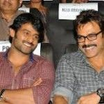 prabhas and venkatesh as multistarrer in 'Suryudu-Chandrudu' film.