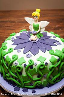 Camile Walendorff - Cupcakes, Bolos e Doces: Bolo Tinker Bell
