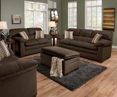 Legacy Cappuccino Sofa & Chair 1/2 Group