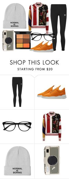"""""""Unique Outfit"""" by jessie-tsymbal on Polyvore featuring adidas Originals, Filling Pieces, EyeBuyDirect.com, Dolce&Gabbana, Kate Spade and MAC Cosmetics"""