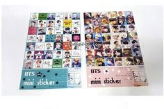 BTS BANGTAN BOYS Mini Sticker 2pcs design random(latest version) K-star K-pop  #Unbranded