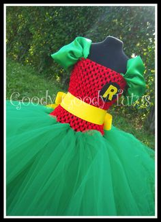 I'm not going to lie... I want one for myself! ROCKIN ROBIN Batman and Robin Inspired Tutu by goodygoodytutus, $65.00