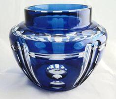 Art Deco Glass Vase by Val Saint-Lambert