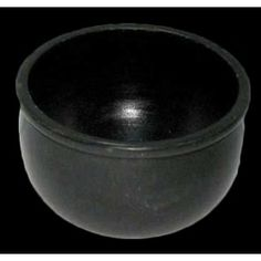 Black Scrying Bowl 3 in