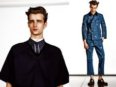 Fast Management photographer Diego Merino shoots a menswear editorial for the latest issue of Elle Men China.