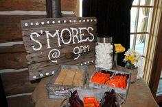 sign for s'more bar