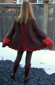 Really sweet upcycled sweater!