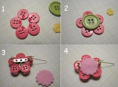 broche or badge clips Button Art, Button Crafts, Diy Crafts Jewelry, Handmade Crafts, Beaded Spiders, Hemp Fabric, Leather Gifts, Brooches Handmade, Handmade Jewelry