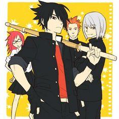 Team Taka. #Naruto I'm pinning this because Sasuke kinda looks like Rouge (Fairy Tail) in this picture.