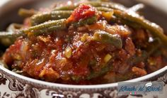 Green Beans and Tomatoes Recipe : Ree Drummond : Food Network Best Thanksgiving Recipes, Holiday Recipes, Thanksgiving 2016, Keto Holiday, Holiday Meals, Holiday Baking, Recipes Dinner, Veggie Dishes, Vegetable Recipes