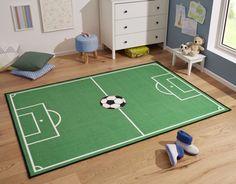 Hanse Home Detský koberec Futbalové ihrisko, 160x240 cm - zelený