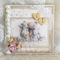 Today I want to show you my mixed media card I made using Pion Design papers. Wishing, Minna Pion products: Flower Frames 6×6″ – Convallaria PD4301 Flower Frames 6×6″ – Viol…