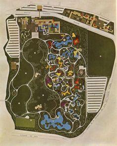 Fig. 2. Site Plan, Parque del Este, circa 1961 (Bardi, 1964, 137)