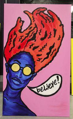 "Believe Acrylic on canvas 36"" x 60"" by Nezifah Momodou http://nezimomodu.com/ http://aboveignorance.tumblr.com/ https://instagram.com/theafricanartist/ https://twitter.com/nezifah https://soundcloud.com/nezi-momodu https://youtube.com/channel/UCe0nBnh5cPYFfKw5XF8Kcrg Nezifah.momodu@ttu.edu"