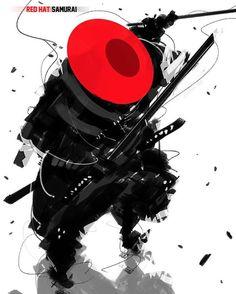 Red hat samurai by benedickbana . .  #shinobi #assasin #warrior #samurai #manga #ниндзя #katana #art #digitalart #бусидо #japan #bushido #катана #воин #fantasy #blade #Ninja #самурай #Япония #samurai #japan #japanese #japan #japanesestyle #anime  #animeart #fantasyart#drawings#asian #ronin #ронин