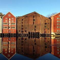 Traditional warehouses, Trondheim - Instagram photo by @tonebjorndal #travel #norway