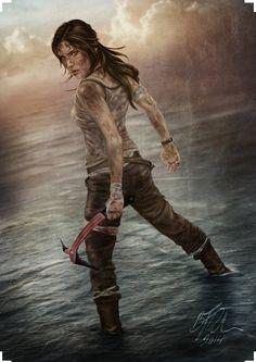 Fan art Lara Croft - Rise of The Tomb Raider. #RiseOfTheTombRaider #LaraCroft #TombRaider #livingtombraider #aventura #survival #supervivencia #gaming #videogames #game #adventure #fanart