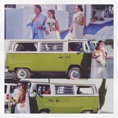 #ibizaweddings. #magic. #love.  #enjoytheride #Ibiza2015 #ibiza #igersIBIZA #vintagebus4rent #elixirshoreclub