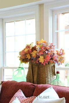Savvy Southern Style: Adding Fall with Nature in the Family Room