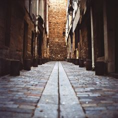 Paris with Hasselblad, random lonely Paris street in the older parts....by Nina Matzat Photography
