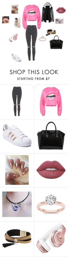 """""""Untitled #34"""" by shiyanemcnab on Polyvore featuring Topshop, adidas, Givenchy, Lime Crime, Simons and Beats by Dr. Dre"""