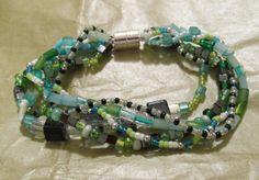 London Fog Beaded Bracelet by MCBDdesigns on Etsy