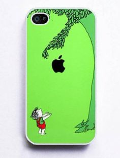 The Giving Tree iPhone 4 and iPhone Case Cover - Falling apple get it? This case is awesome! If I get a case iphone wrapper diy Coque Smartphone, Coque Iphone, Iphone 4s, Iphone Cases, Apple Iphone, Iphone Decal, 4s Cases, Laptop Cases, Geeks