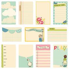 October Afternoon Sidewalks Journaling Cards