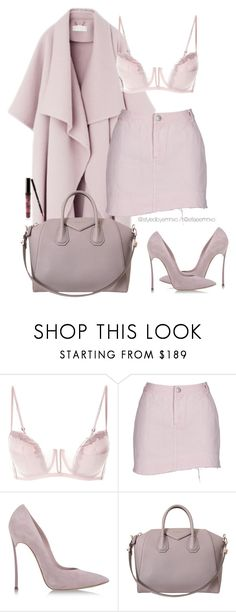 """""""Soft Lilac Palette"""" by efiaeemnxo ❤ liked on Polyvore featuring Casadei, Givenchy, Kylie Cosmetics, monochrome, lilac, sbemnxo and styledbyemnxo"""
