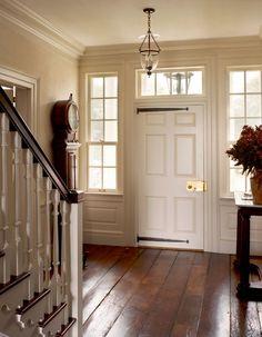 Entryway of an upstate New York horse farm designed by architect Gil Schafer. So beautiful.