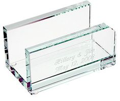 Crystal business card sized paperweight executive gift ideas engraved executive glass business card holder 2495 gifts companygift personalize colourmoves