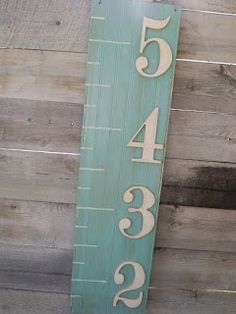 Growth Chart - these look easy enough to make.  Use clothespins to mark the childs height.  Optional trim was from Hobby Lobby.  Dont know if Ill attempt this project, but if not, maybe Ill buy one.