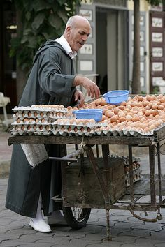 Egg Vendor, Casablanca, Morocco by Raoul Manten