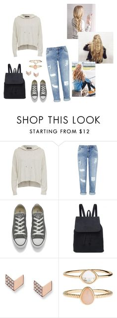 """""""Ending the Summer Season"""" by mgilde ❤ liked on Polyvore featuring Miss Selfridge, Converse, FOSSIL and Accessorize"""