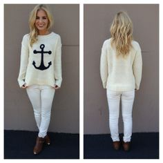 Anchor Sweater Top on Wanelo