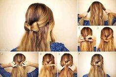 Eine süße Schleife in den Haaren