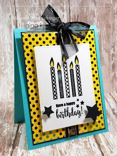 Hands, Head and Heart: Gina K. Foil-Mates Day Birthday Essentials and You're Invited! Stamp Tv, Star Background, Head And Heart, Making Cards, Booth Ideas, Star Patterns, Cardmaking, Card Stock