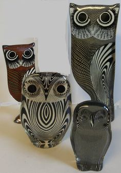 (4) Abraham Palatnik Owl Figurines    What you see, is what you get. All four owls are in excellent pre-owned condition. See photos for