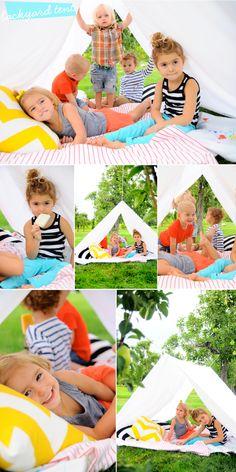 Back Yard Tent Adventure