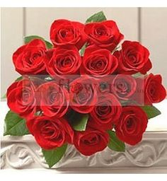18 Red Roses bouquet wrapped in cellophane packing. #SpecialBouquet #EasyFlowers