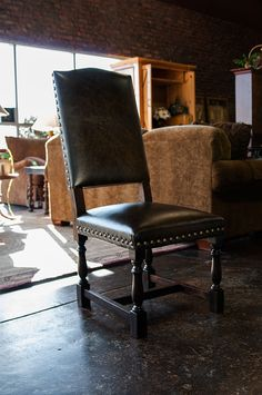 Awesome Uhideu Backed Leather And Nailhead Dining Chairs No Two Are Alike  With Nailhead Dining Chair
