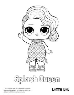 Splash Queen Coloring Page Lotta Lol Unicorn Coloring Pages Mermaid Coloring Pages Bee Coloring Pages