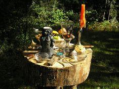 Backyard altar.
