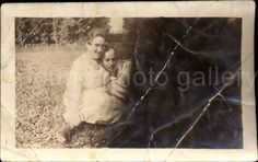 A personal favorite from my Etsy shop https://www.etsy.com/listing/246639021/vintage-photo-woman-and-man-sitting-on