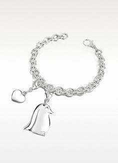 Forzieri Sterling Silver Penguin Bracelet