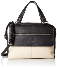 Nine West Aby Satchel, Toasted Oat/Black