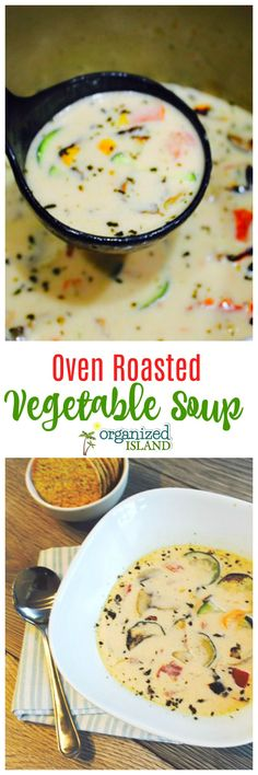 Easy Roasted Vegetable Soup from scratch is so easy to make!
