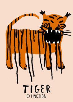 By Aleksandra Niepsuj, Tiger Extinction, (Poland). More