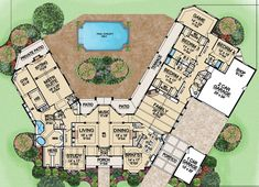 Luxury Ranch House Plan Desert Pines First Floor. Turn the formal living room into a guest suite! Luxury House Plans, Dream House Plans, House Floor Plans, My Dream Home, Luxury Floor Plans, Luxury Houses, The Plan, How To Plan, Home Design Plans
